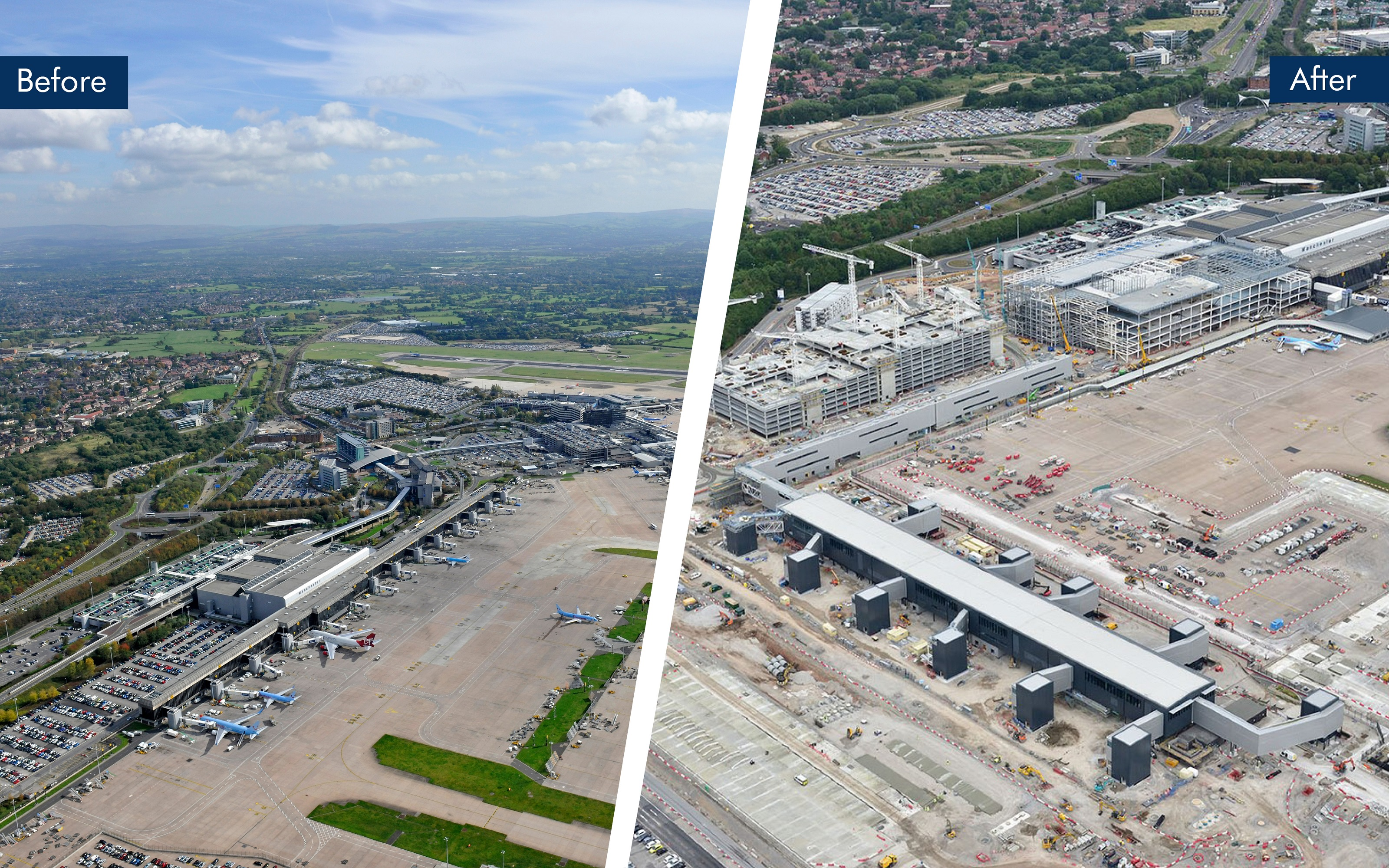 One year on manchester airport marks construction milestone in manchester airport marks construction milestone in terminal transformation program before m4hsunfo