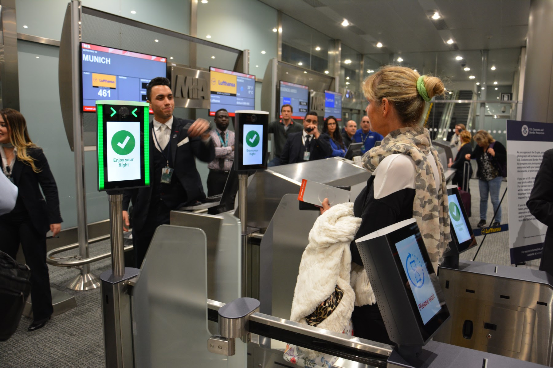 Biometric boarding gates launched at Miami Airport - Passenger