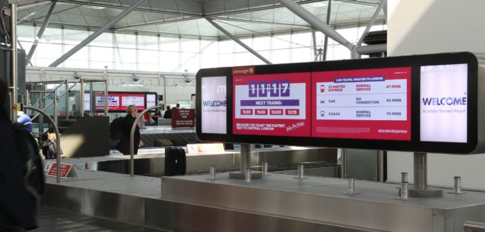 Stansted Express advertising to provide passengers with real-time travel comparison information