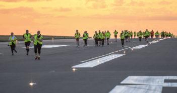 Summer Solstice runway run at London Luton