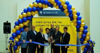Silicon Valley's airport celebrates opening of additional boarding gates