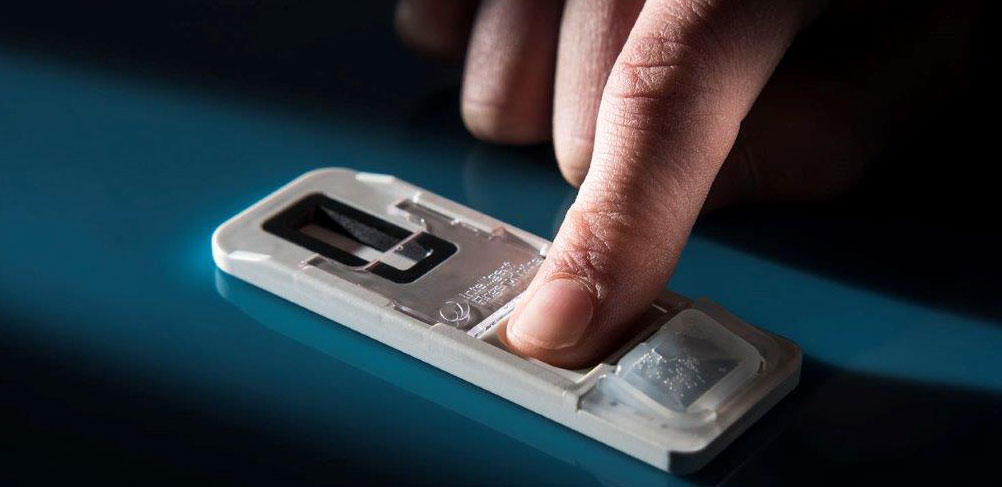Fingerprint-based drug screening test accelerates
