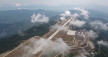 Video: the airport in the clouds