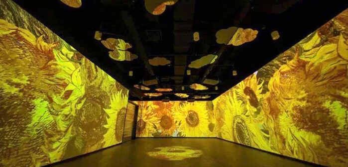Laser projectors provide pop for Daxing Airport art installation